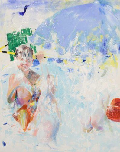 Make a splash, acrylic on canvas, 80x100 cm, 2017_result