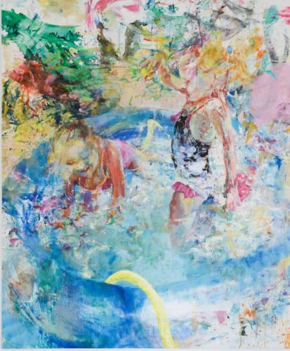 Sun bath, acrylic on canvas, 200x240 cm, 2018_result