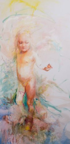 Tinker Bell, watercolor on canvas, 100x200 cm, 2017 _result